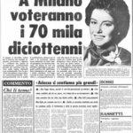 10 marzo 1975 - Maggiorenni a 18 anni