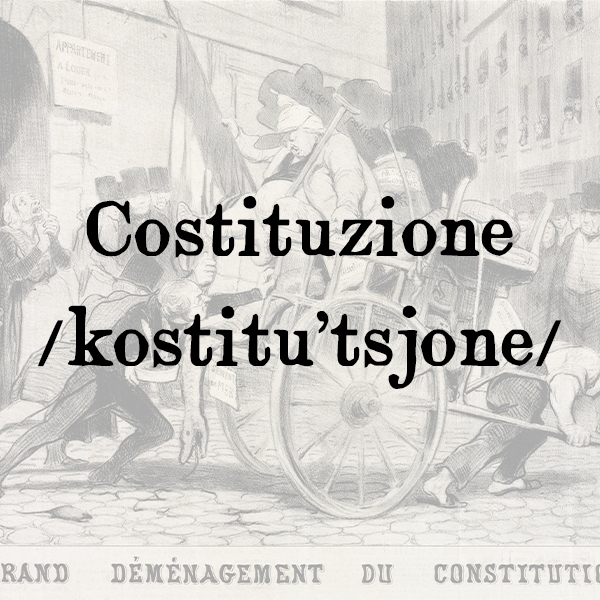Etimologia di Costituzione