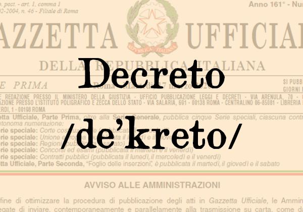 Decreto, s.m.