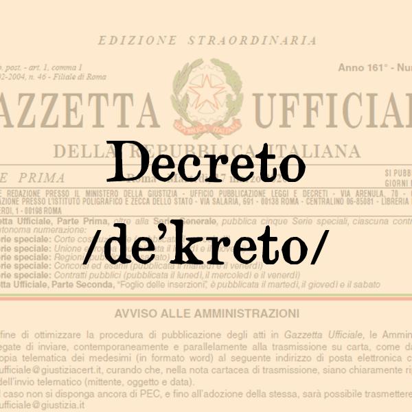 Etimologia di Decreto