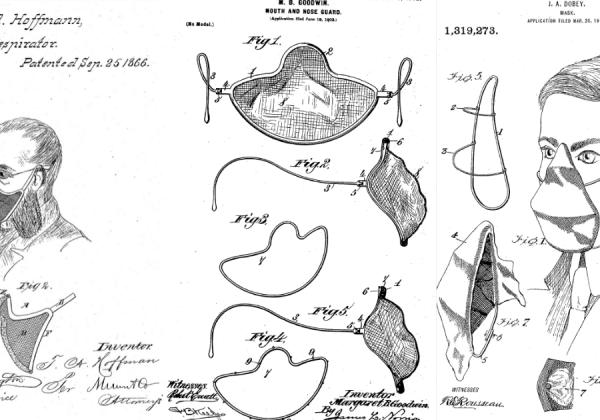 Maschere e mascherine: brevetti dal passato