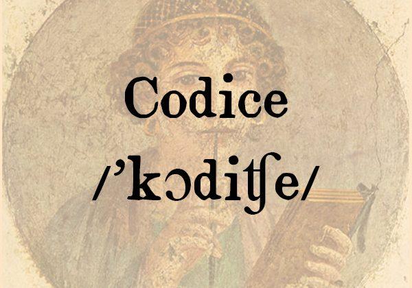 Codice, s.m.