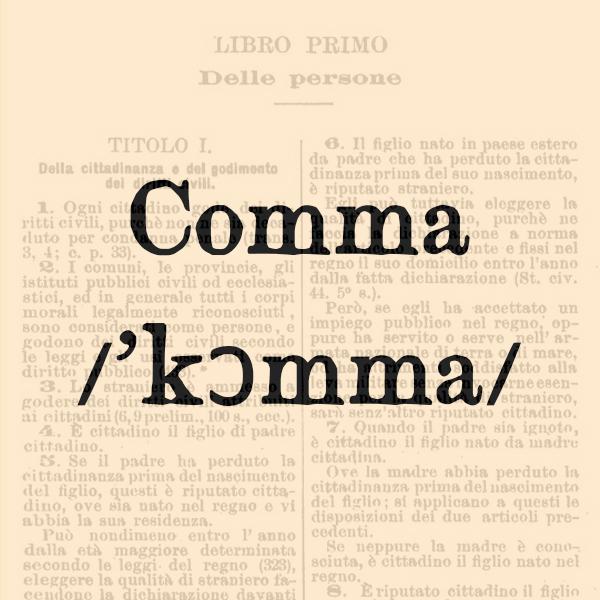 Etimologia di Comma, s.m.