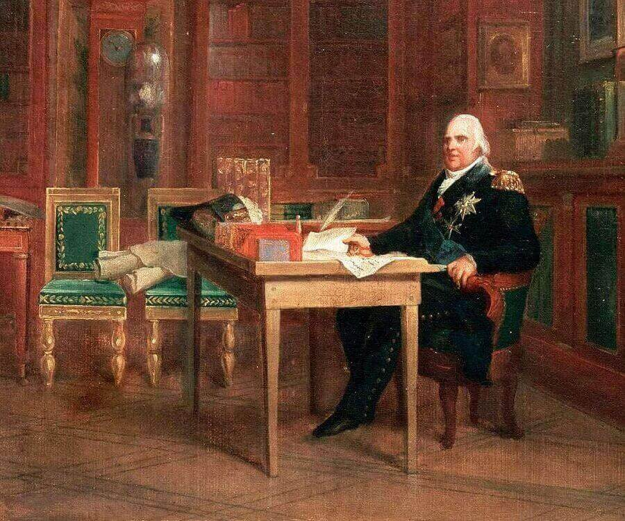 Il 4 giugno del 1814 Luigi XVIII concede la Carta francese del 1814, che comprende la sintesi tra i precetti dell'assolutismo monarchico e del parlamentarismo rappresentativo.