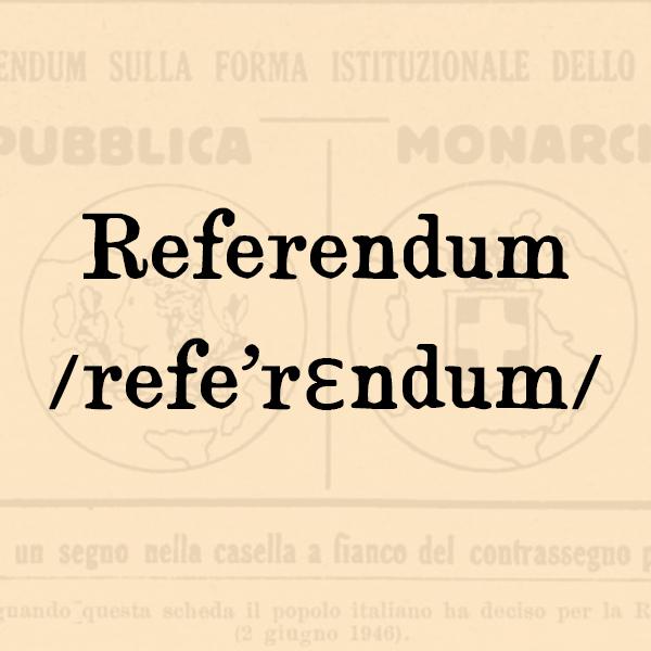 Etimologia di Referendum