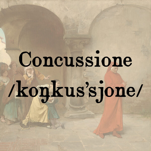 Concussione, s.f.