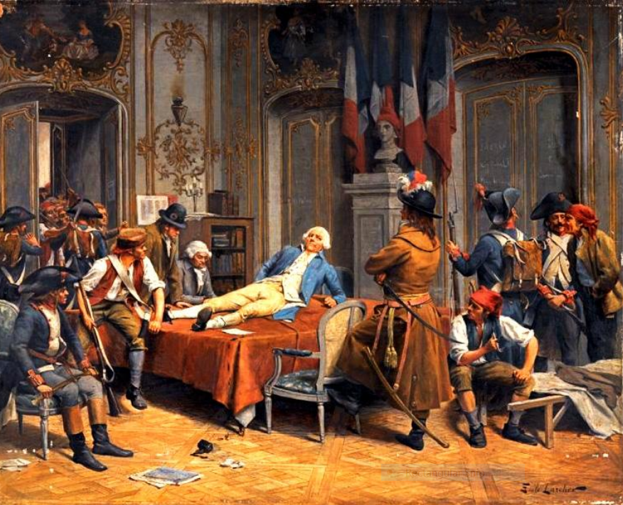 28 luglio 1794 – Maximilien Robespierre e Louis Saint-Just vengono ghigliottinati