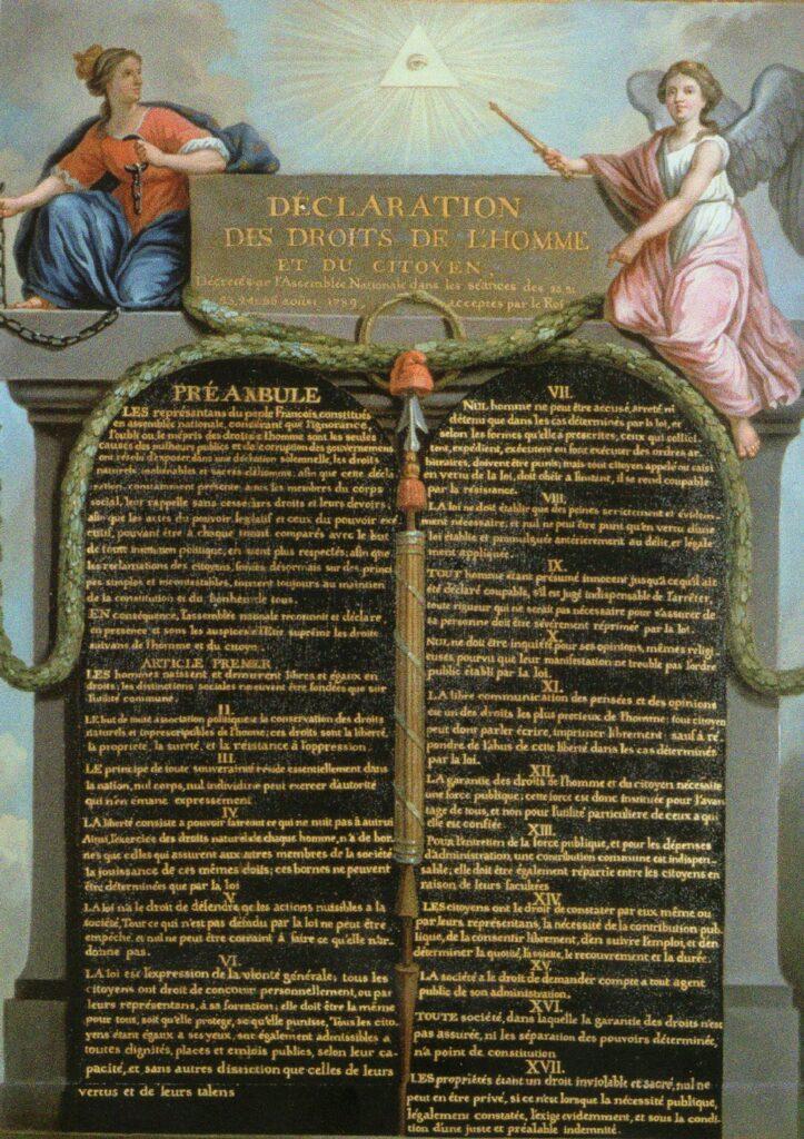 26 Agosto 1789 - Approvata la Dichiarazione dei Diritti dell'Uomo e del Cittadino