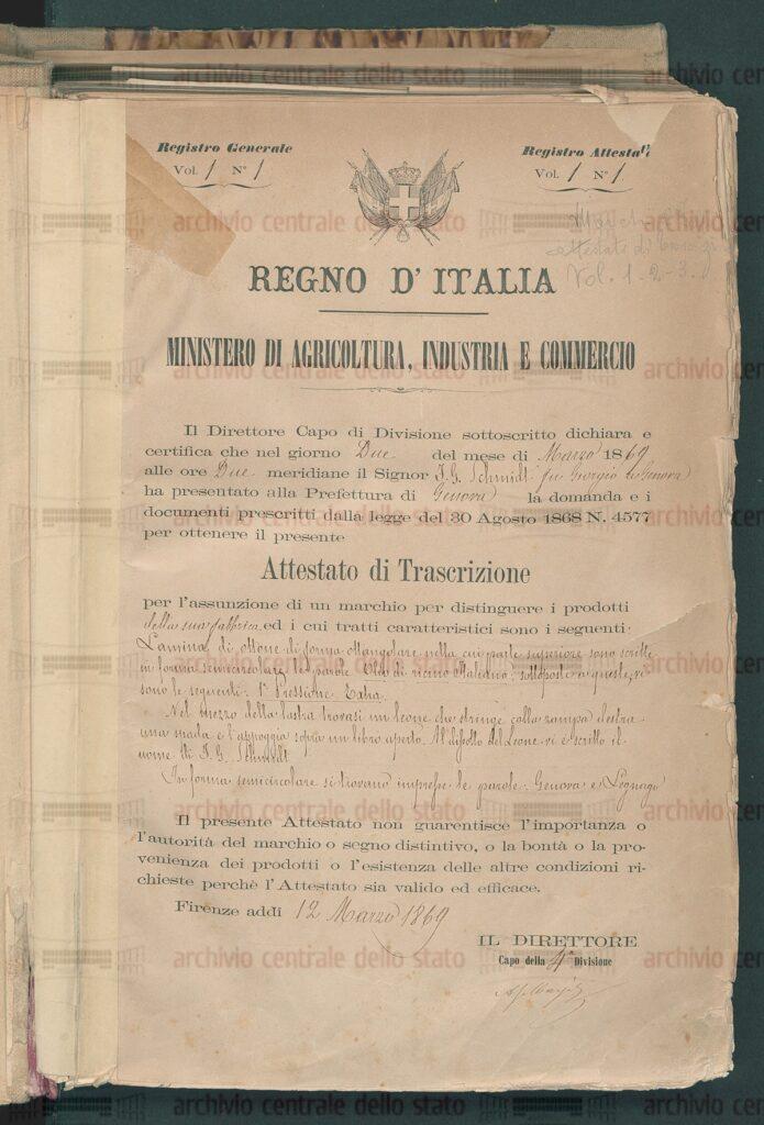 30 Agosto 1868 - Promulgata la prima legge unitaria che disciplina i marchi