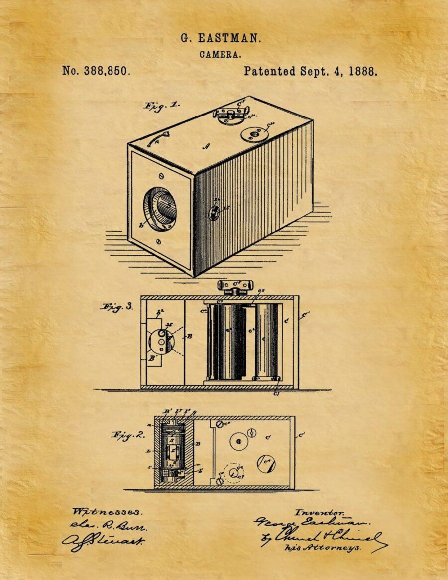 4 Settembre 1888 – Brevettata la macchina fotografica con pellicola