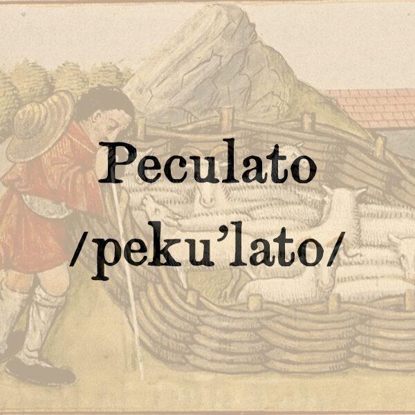 Peculato, s.m.