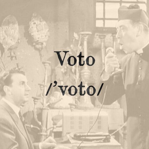 Voto, s.m.