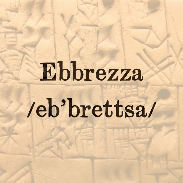 Etimologia di Ebbrezza