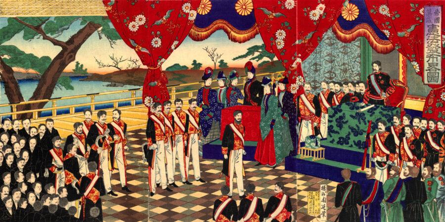 29 Novembre 1890 – Entra in vigore la Costituzione Meiji