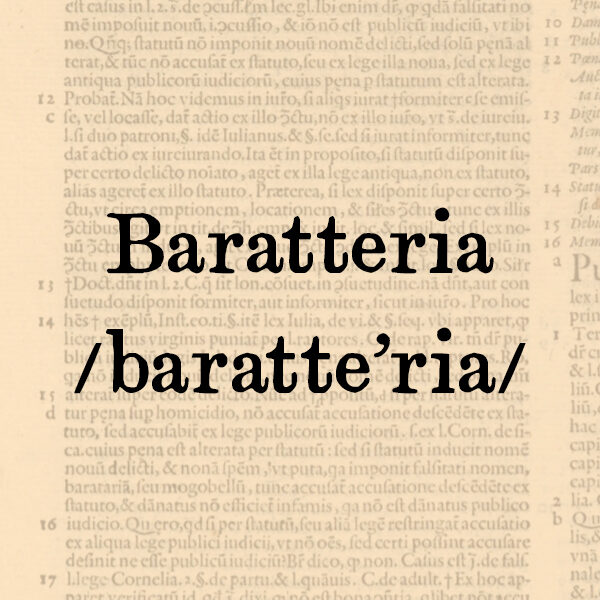 Baratteria, s.f.