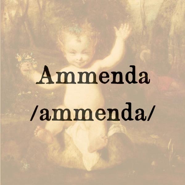Etimologia di Ammenda, s.f.