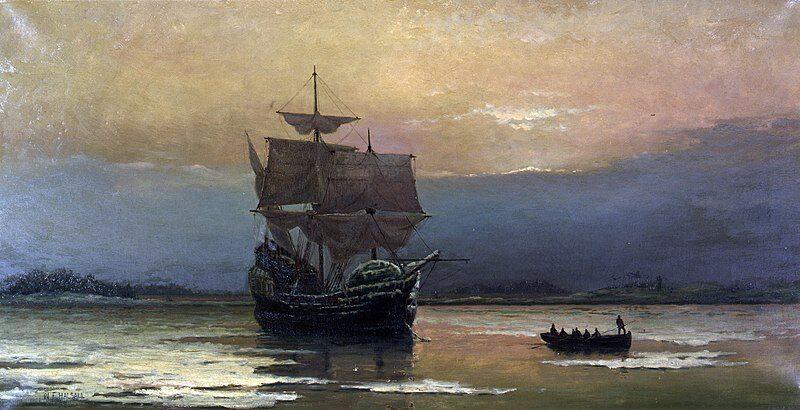 21 dicembre 1620 – William Bradford e i pellegrini della Mayflower sbarcano sulla Plymouth Rock