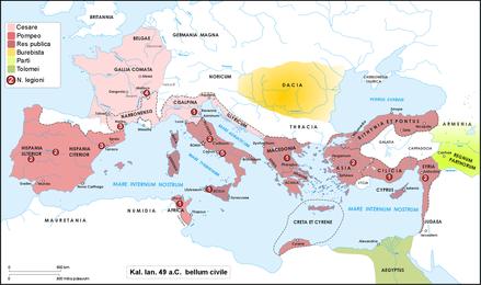 10 Gennaio 49 a.C. – Giulio Cesare varca il Rubicone