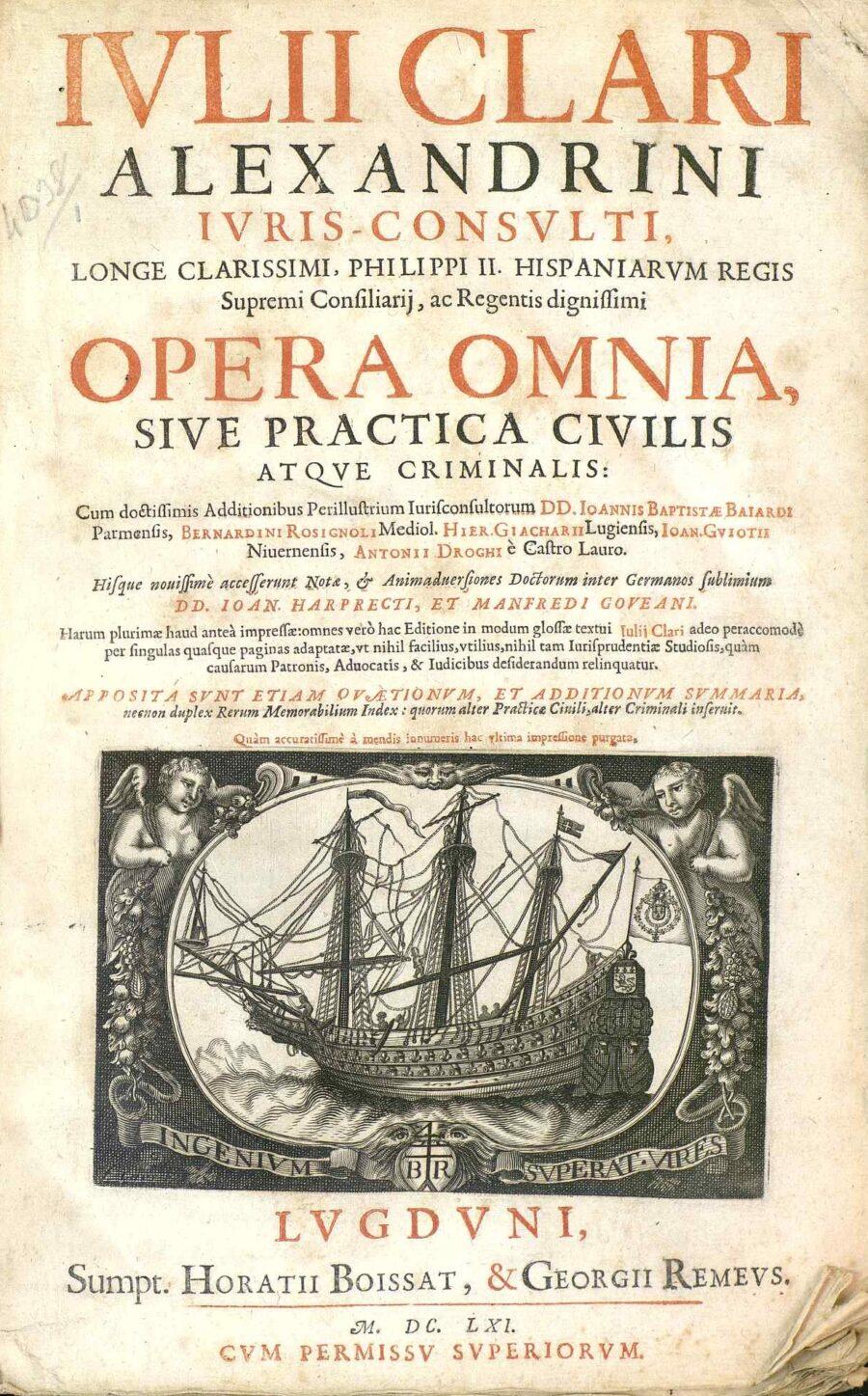 6 Gennaio 1625 – Nasce Giulio Claro