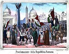 9 Febbraio 1849 – Viene proclamata la Repubblica Romana