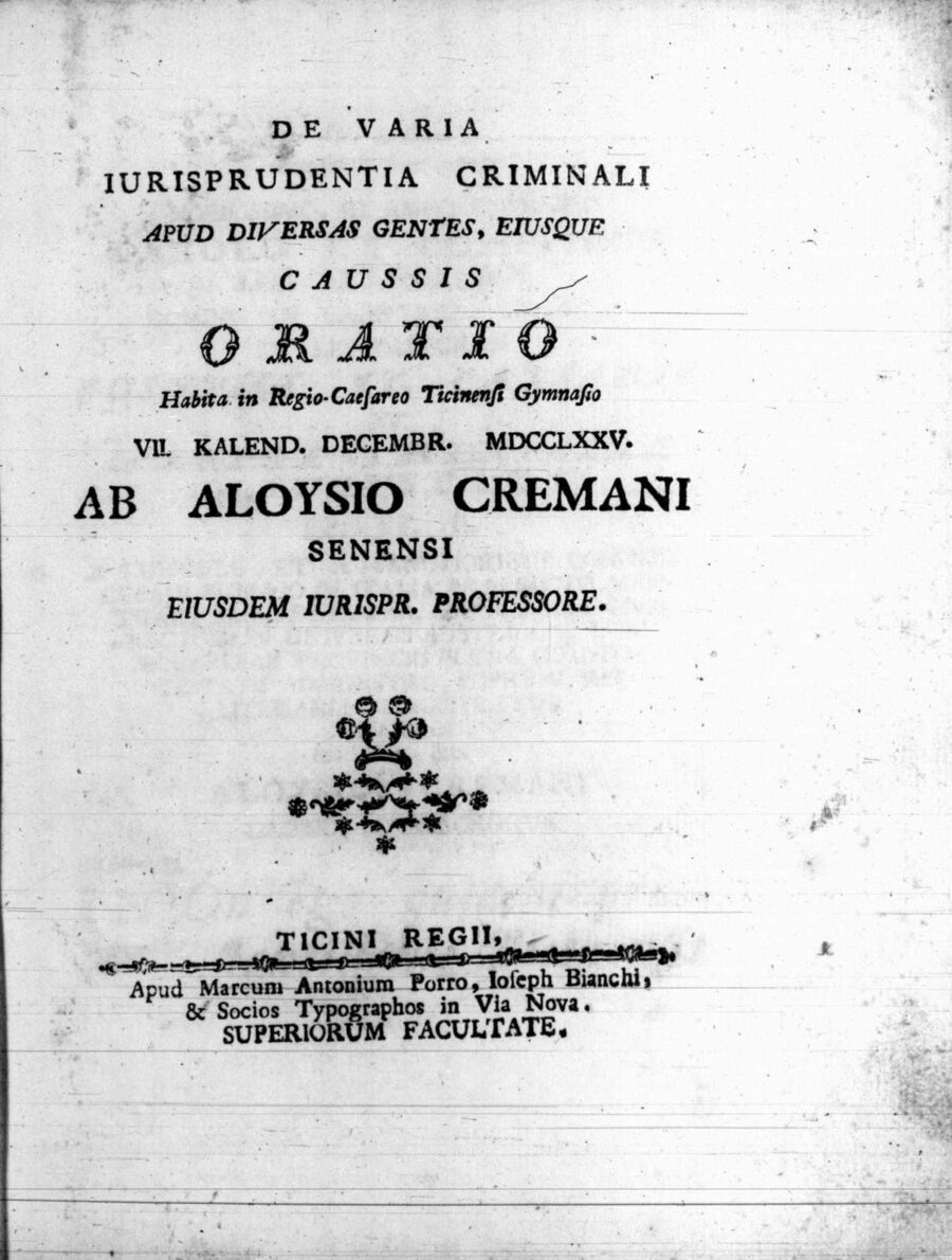 17 febbraio 1748- Nasce Luigi Cremani
