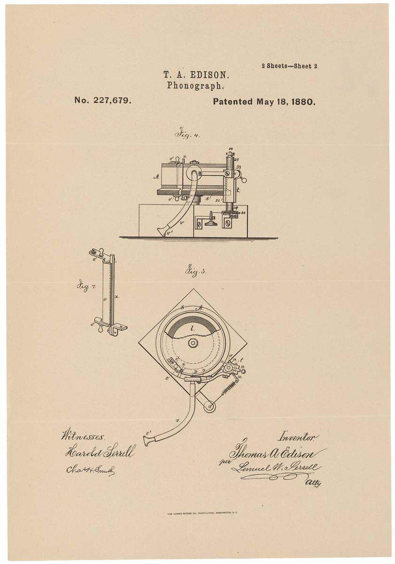 19 febbraio 1878 – Thomas Edison ottiene il brevetto per il fonografo