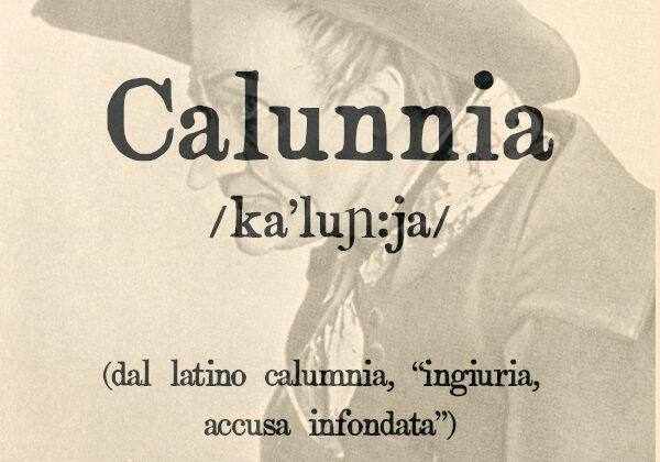 Calunnia, s.f.