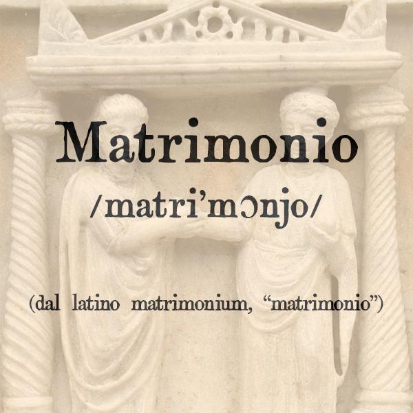 Matrimonio, s.m.