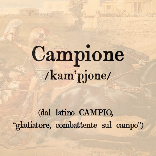 Campione, s.m.