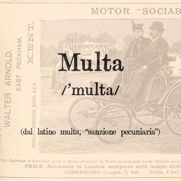 Multa, s.f.