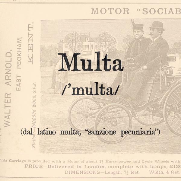 Etimologia di Multa, s.f.