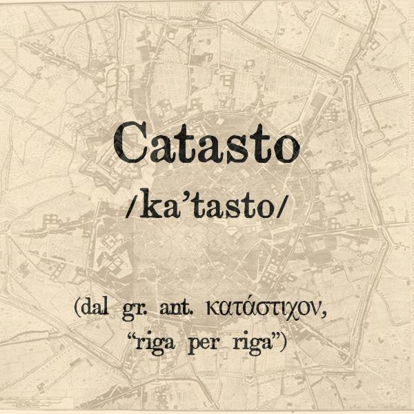 Catasto, s.m.